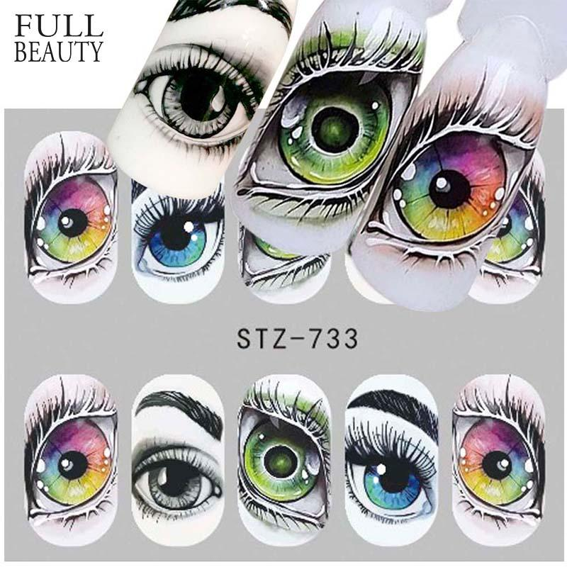 Full Beauty 1x Halloween Nail Sticker Water Self Adhesive