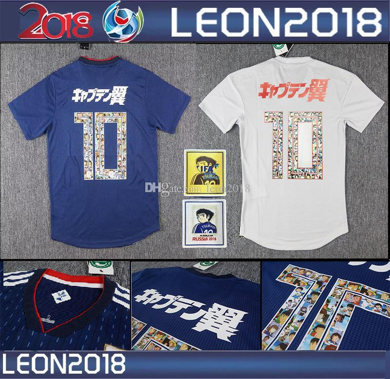 be1c5ab784c Size S 3xl Japan 2018 Tsubasa Soccer Jersey Japan World Cup Atom 18