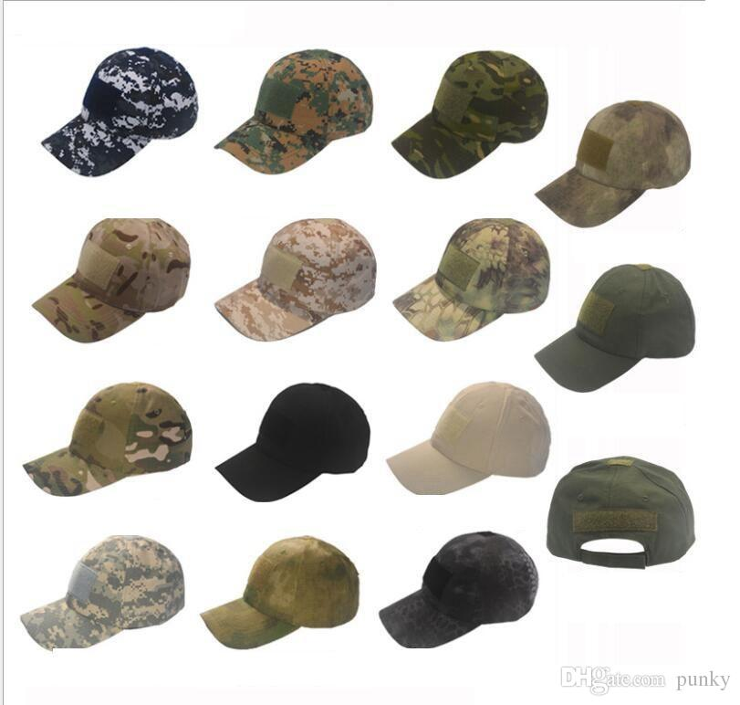 Camo Special Force Tactical Operator hat Baseball Hat Cap Baseball Style Military Hunting Hiking Patch Cap Hat