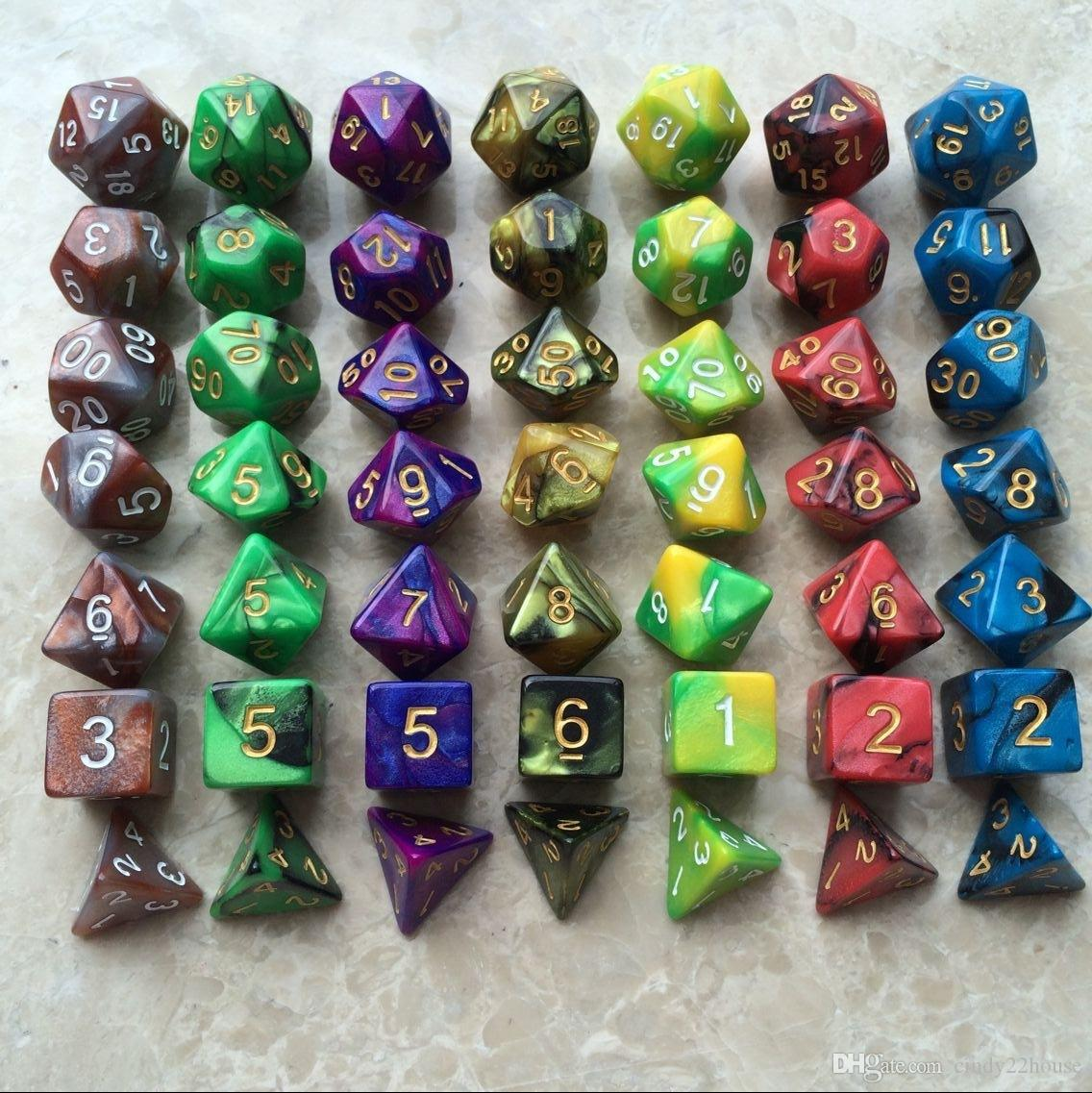 Table Board Game Dice Set High Quality MultiSided Dice With Marble - Digital board game table