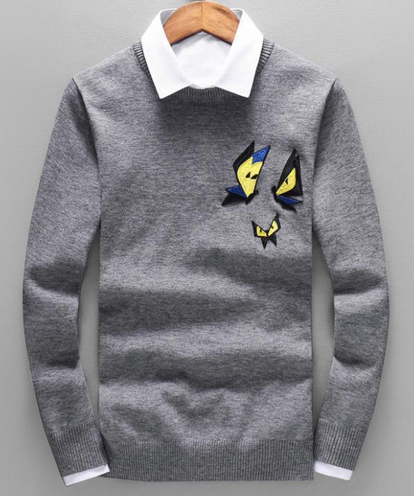 Compre Nuevos Hombres De Invierno Suéter Casual De Moda Ropa De Tejer  Caliente Animal Print Manga Larga Abrigos Jerseys Camisas Pullover Cardigan  Diseños A ... 3373eff42d0c