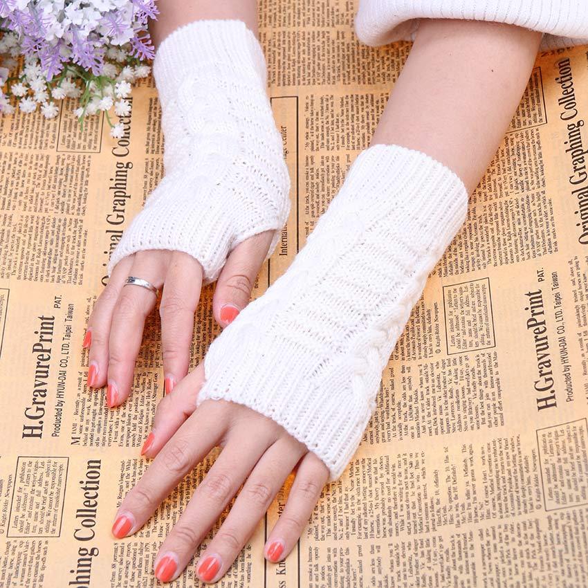 Großhandel 1 Paar Ziemlich Stilvolle Winter Hand Arm Häkeln Stricken