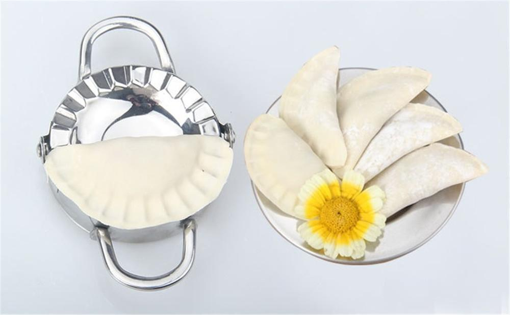 Eco-Friendly Pastry Tools Stainless Steel Dumpling Maker Wraper Dough Cutter Pie Ravioli Dumpling Mould Kitchen Accessories B63c
