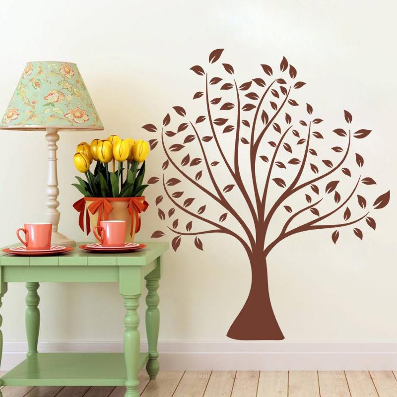 70*80cm simple classical brown tree wall stickers home decor living