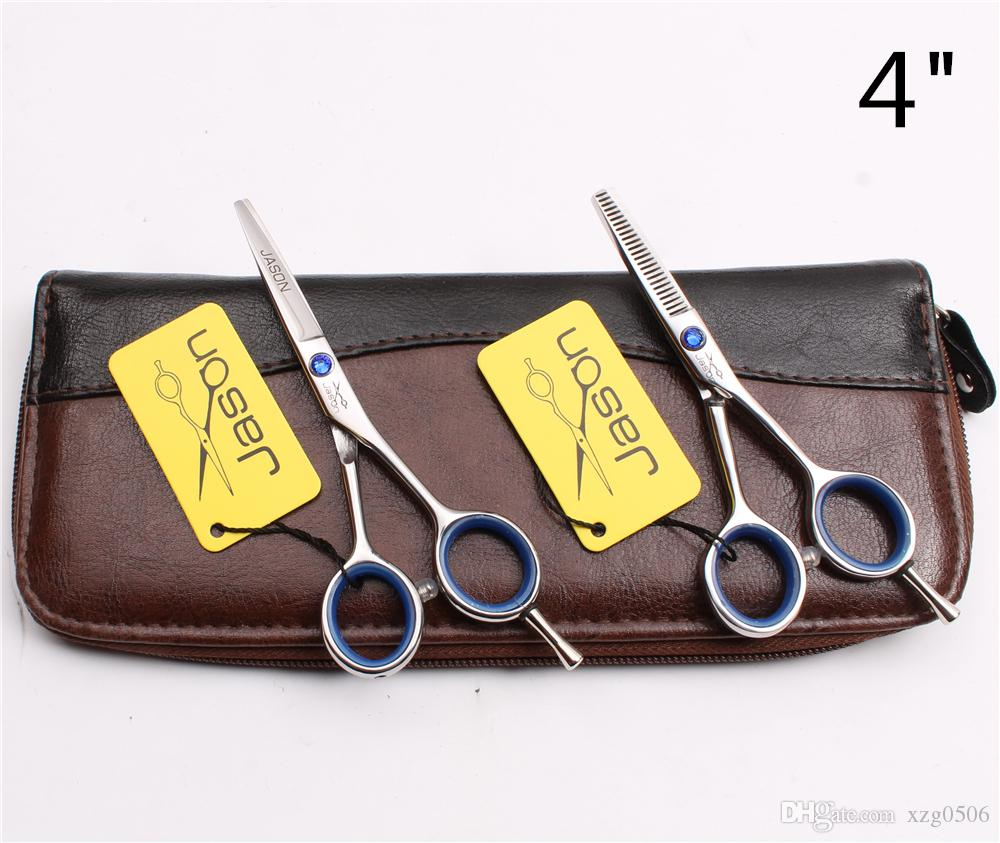 "4"" 5"" 5.5"" Japan 440C Brand Jason Barber's Hairdressing Shears Cutting Thinning Scissors Human Hair Scissors Salon Style Tools J1117"