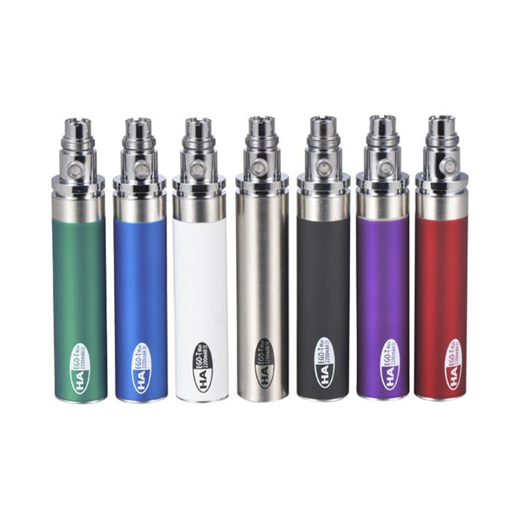 Hot sale variable voltage ego t battery with large capacity 2200mah factory price welcome custom packaging