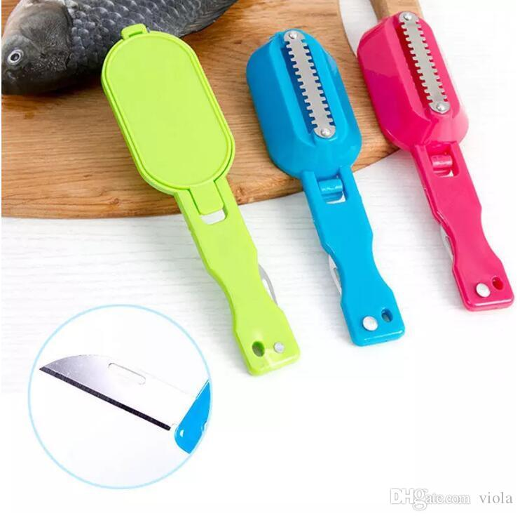 Fish Skin Scraping Fish Scales Brush With Knife Graters Fast Remove ...