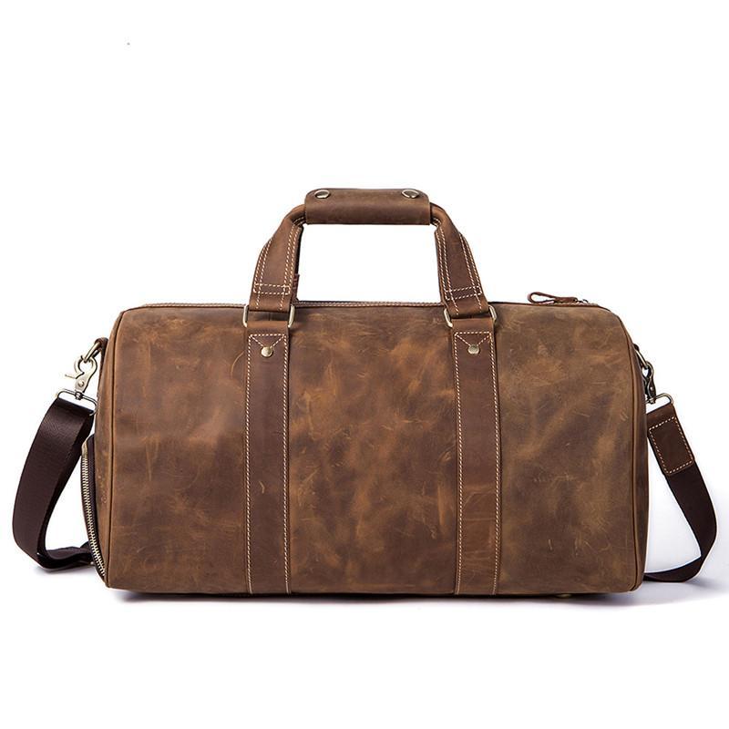 Genuine Leather Men Travel Duffle Bags Laptop Handbag Men Travel Bag Leather  Crossbody Bags For Messenger Vintage Handbags Best Gym Bags Large Duffel  Bags ... 4a178c1084