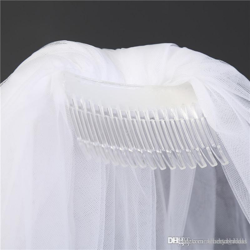 Two Layers Tulle Short Bridal Veils 2017 Hot Sale Cheap Wedding Bridal Accessory For wedding Dresses Cheap Wedding Net In Stock