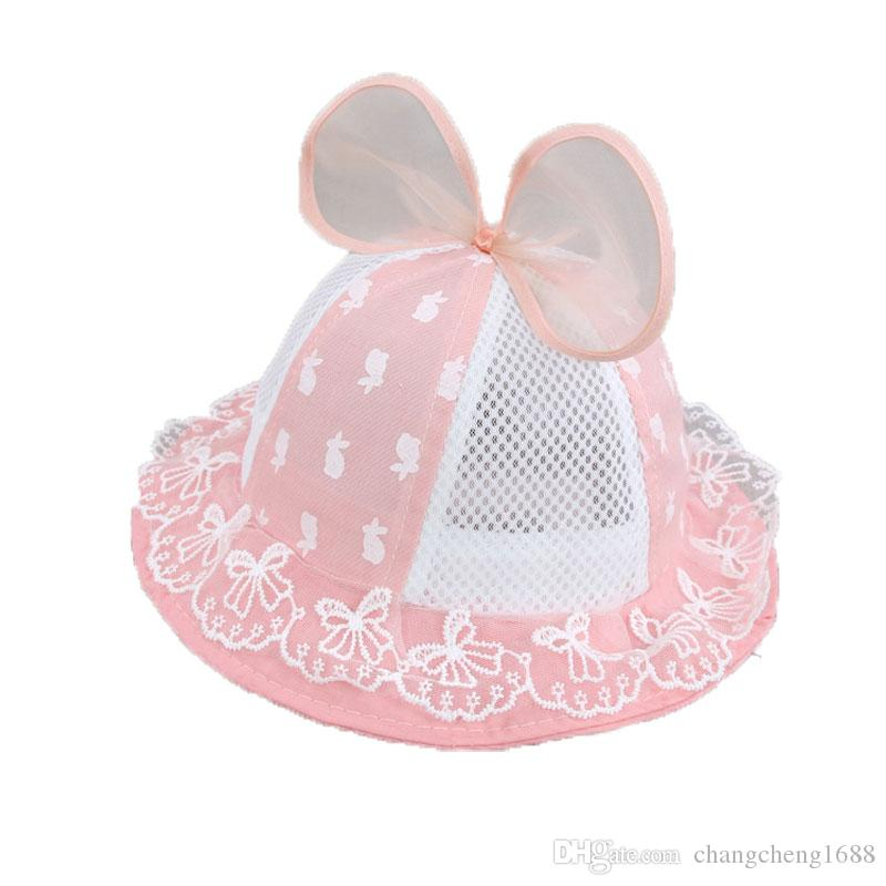b63261b6c16 Girls Baby Mesh Patchwork Dome Bucket Hats Child Kids Bowkont Design Lace  Casual Beach Cap Summer Sun Protective Hat MZ5851 Online with  4.05 Piece  on ...