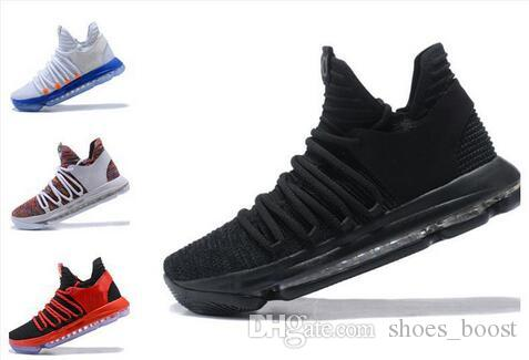 size 40 b4ee4 ca0ef 2019 KD 10 Triple Black Basketball Shoes Top Quality FMVP Kevin Durant  Signature Sport Sneakers  With Box Low Top Basketball Shoes Kevin Durant  Basketball ...