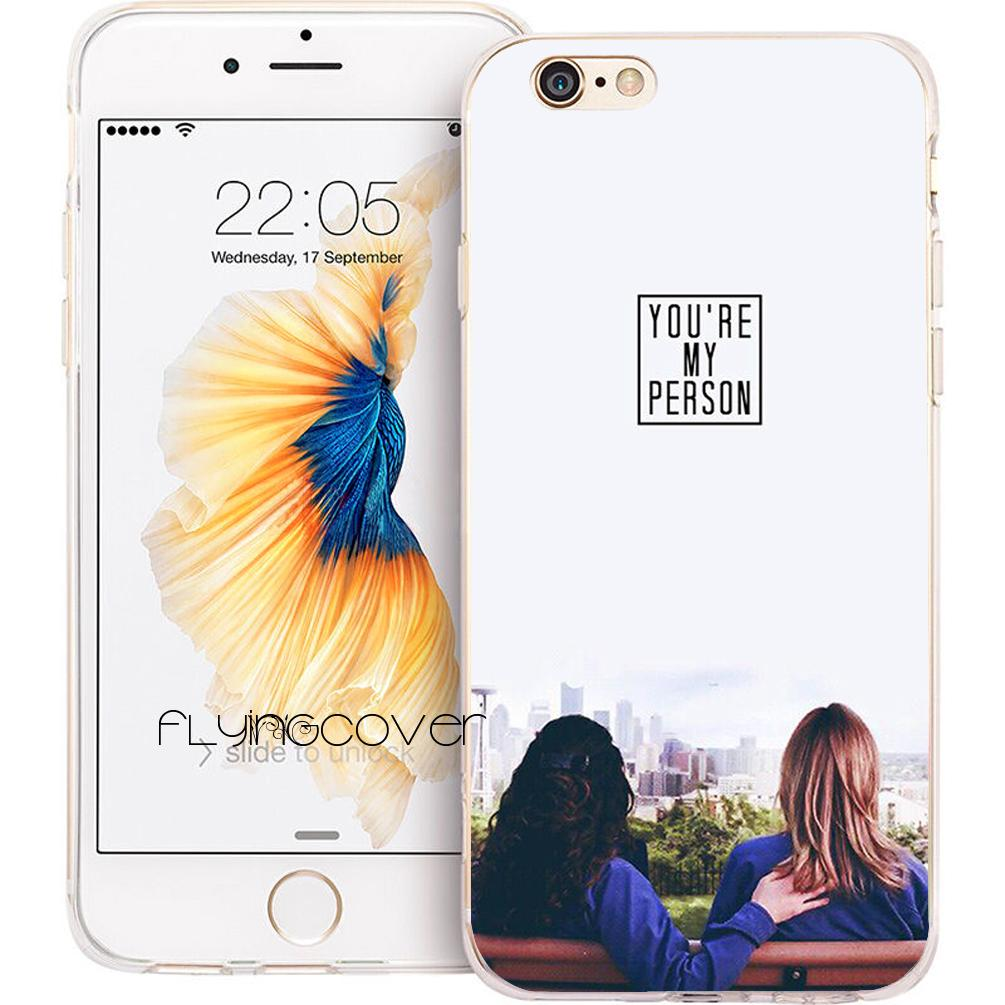 pretty nice fb543 8effe Coque GREYS ANATOMY Phone Case for iPhone X 7 8 Plus 5S 5 SE 6 6S Plus 5C  4S 4 iPod Touch 6 5 Clear Soft TPU Silicone Cover.