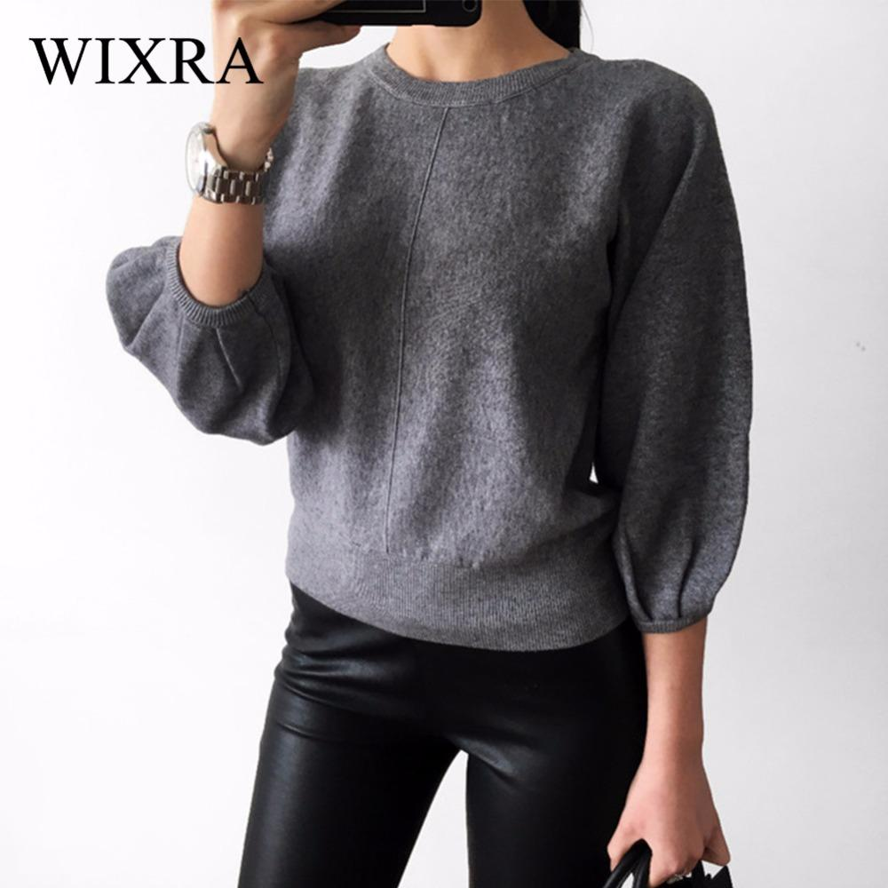 78430a33bd4 2019 Wixra Warm And Charm 2017 New Fashion Women Thick Pullover Sweater  Lady Boat Neck Batwing Sleeve Wool Knitted Jumper Woolen Coat From Freea