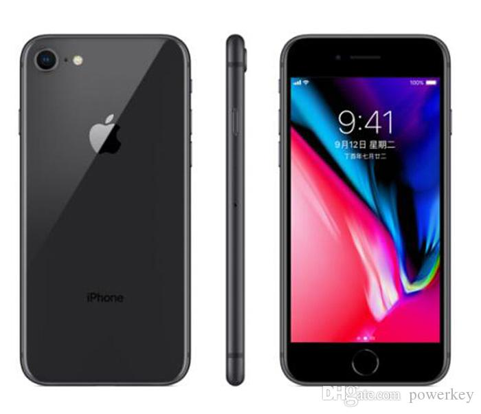 Original Refurbished Apple iPhone 8 8 plus 4.7 5.5 inch 64GB/256GB ROM 2GB RAM hexa Core 12MP 4G LTE Mobile Phone with Touch ID