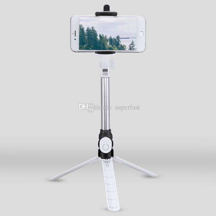 Selfie Vara Bluetooth Selfie Tripé Selfie Vara Extensível Auto Retrato Com Bluetooth Obturador Remoto Para Iphone X 8 7 Com Caixa