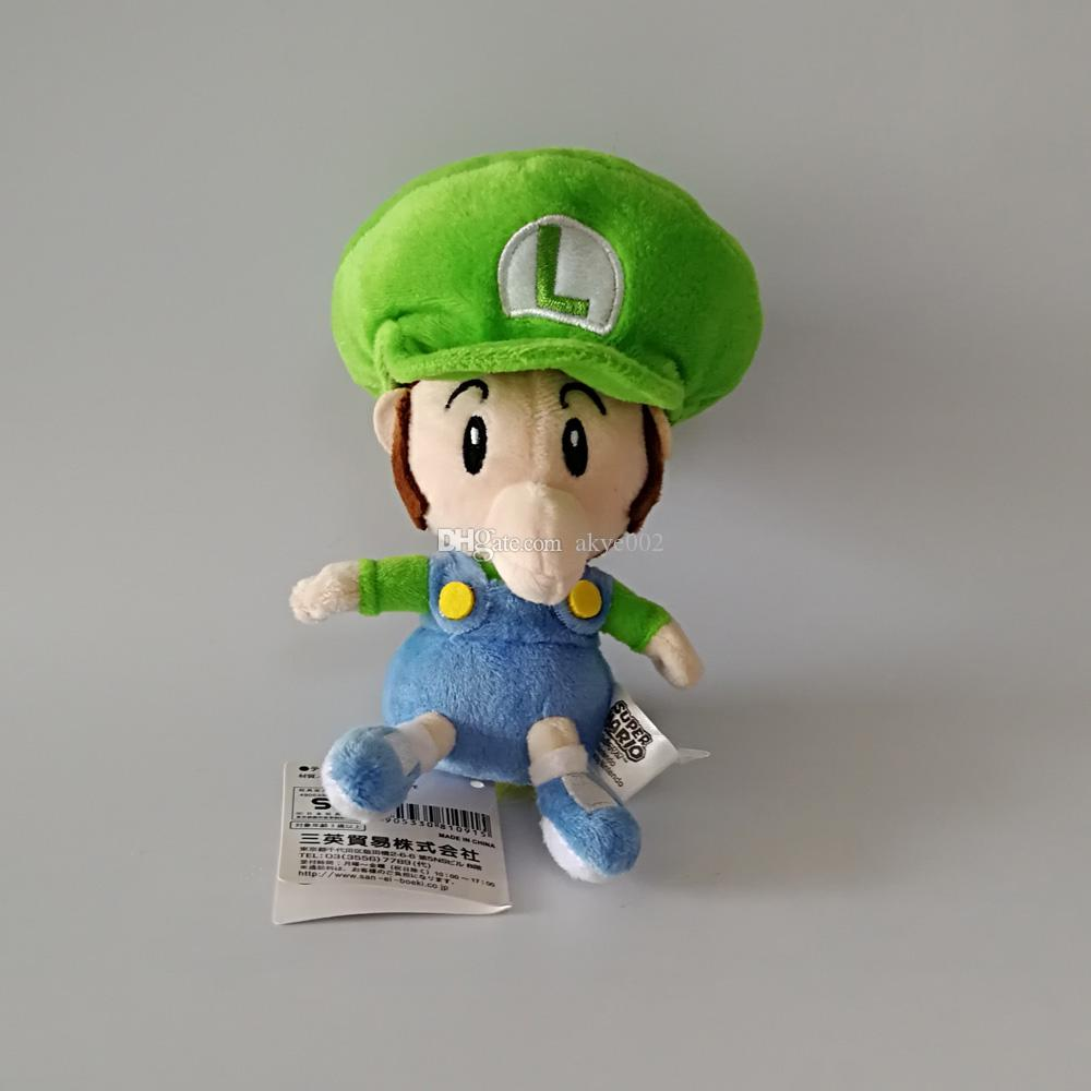 "Hot Sale 4 Styles 6"" 15cm Mario Waluigi Luigi Wario Baby Super Mario Bros Plush Stuffed Doll Toy For Kids Best Holiday Gifts"