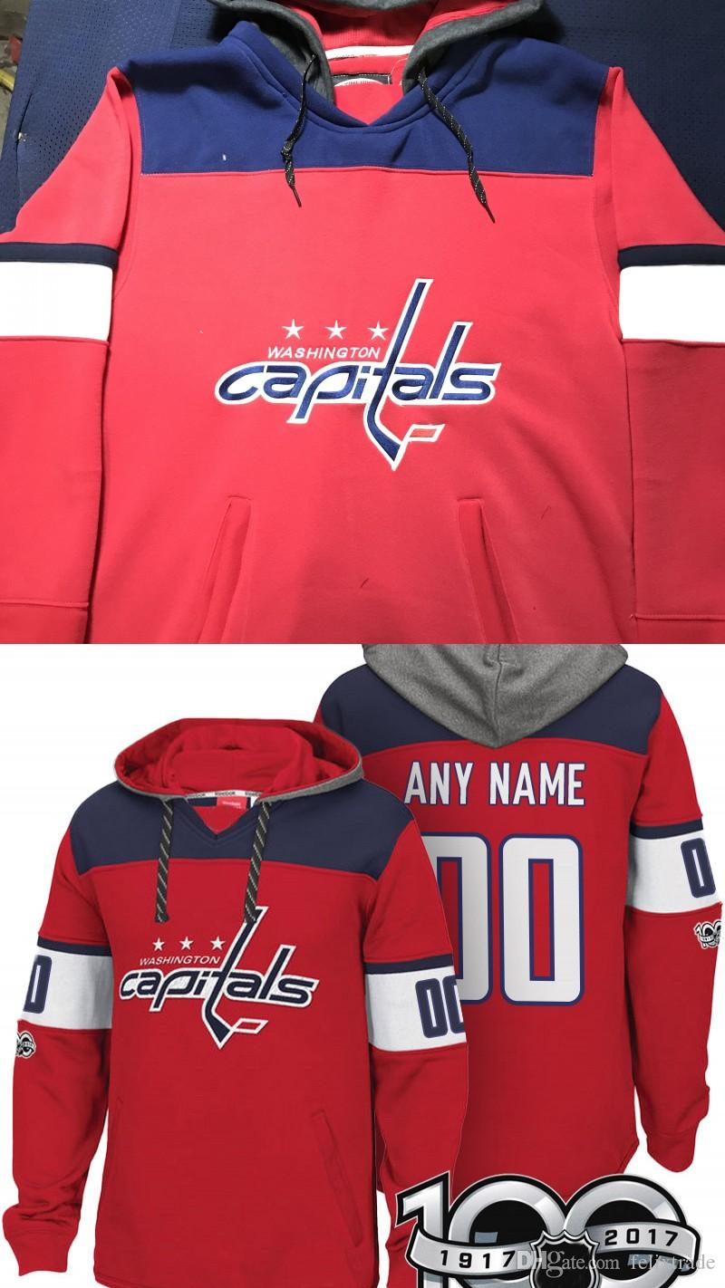 3ea124ed652 2019 Washington Capitals Hoodie 8 Alex Ovechkin 77 TJ Oshie 19 Nicklas  Backstrom 70 Braden Holtby 92 Kuznetsov Stiched Any Name Hockey Hoodies  From ...