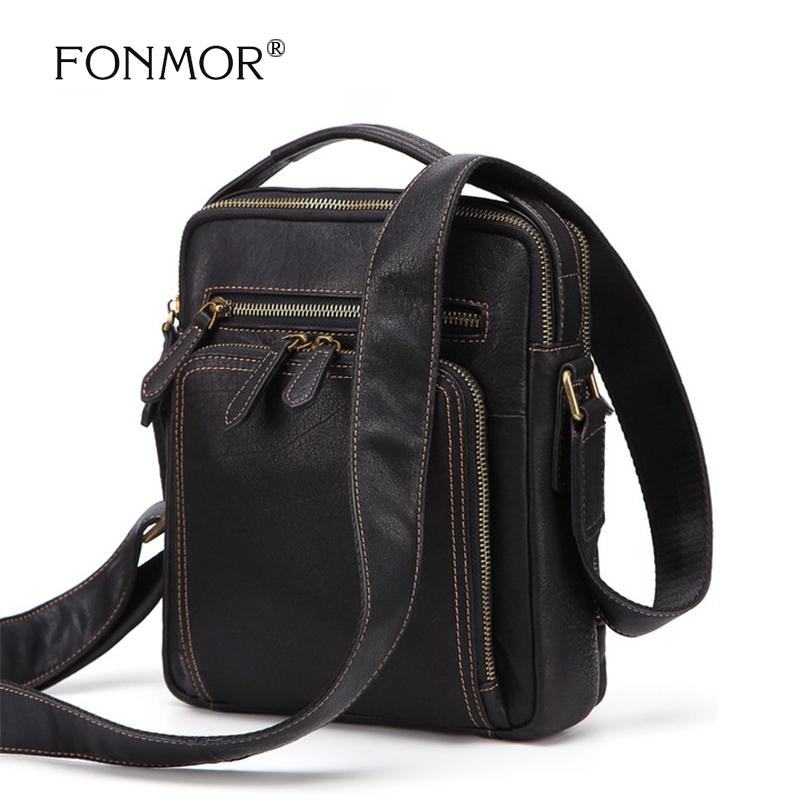 f7a477c68eb FONMOR Brands Men Genuine Leather Durable Multi Pocket Shoulder Crossbody  Bag Unique Design Vintage Style High Capacity Handbag Womens Bags Camo  Purses From ...