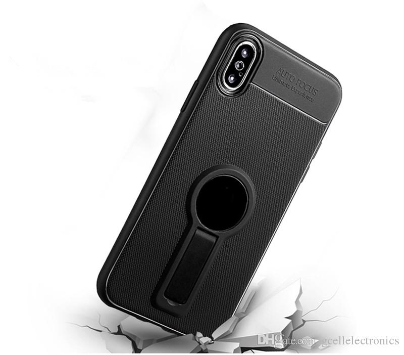 For Iphone XS Samsung Galaxy S10 A30 A20E Huawei P Smart Plus P30 Pro TPU Magnetic Armor Cell Phone Cases With Kickstand Holder