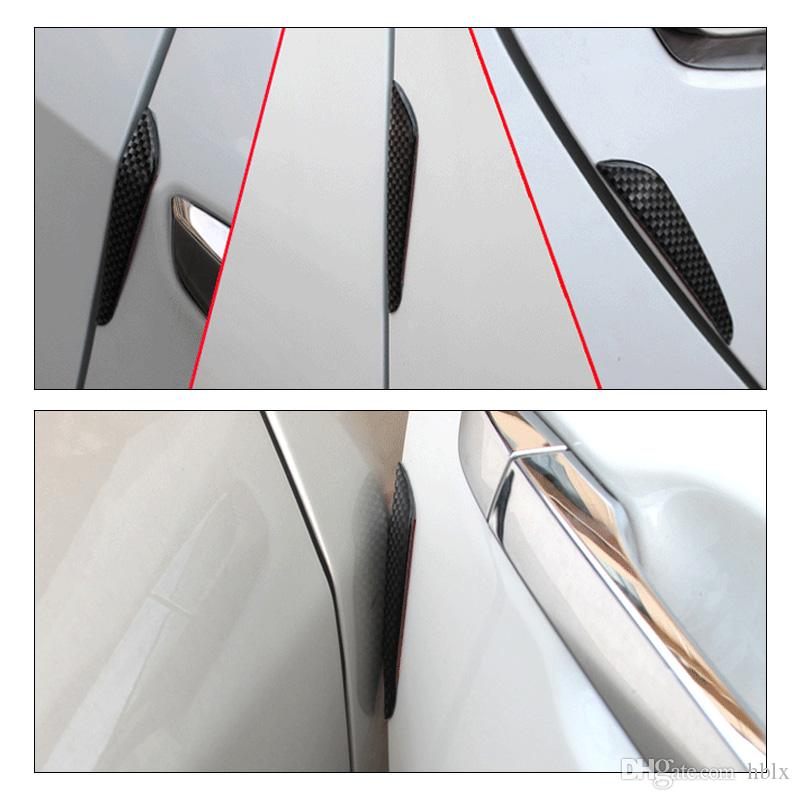 Simple Install Carbon Fibre Car Door Anti Rubbing Anti-collision Strips with Waterproof Bendable Rubber Strip CEA_31U