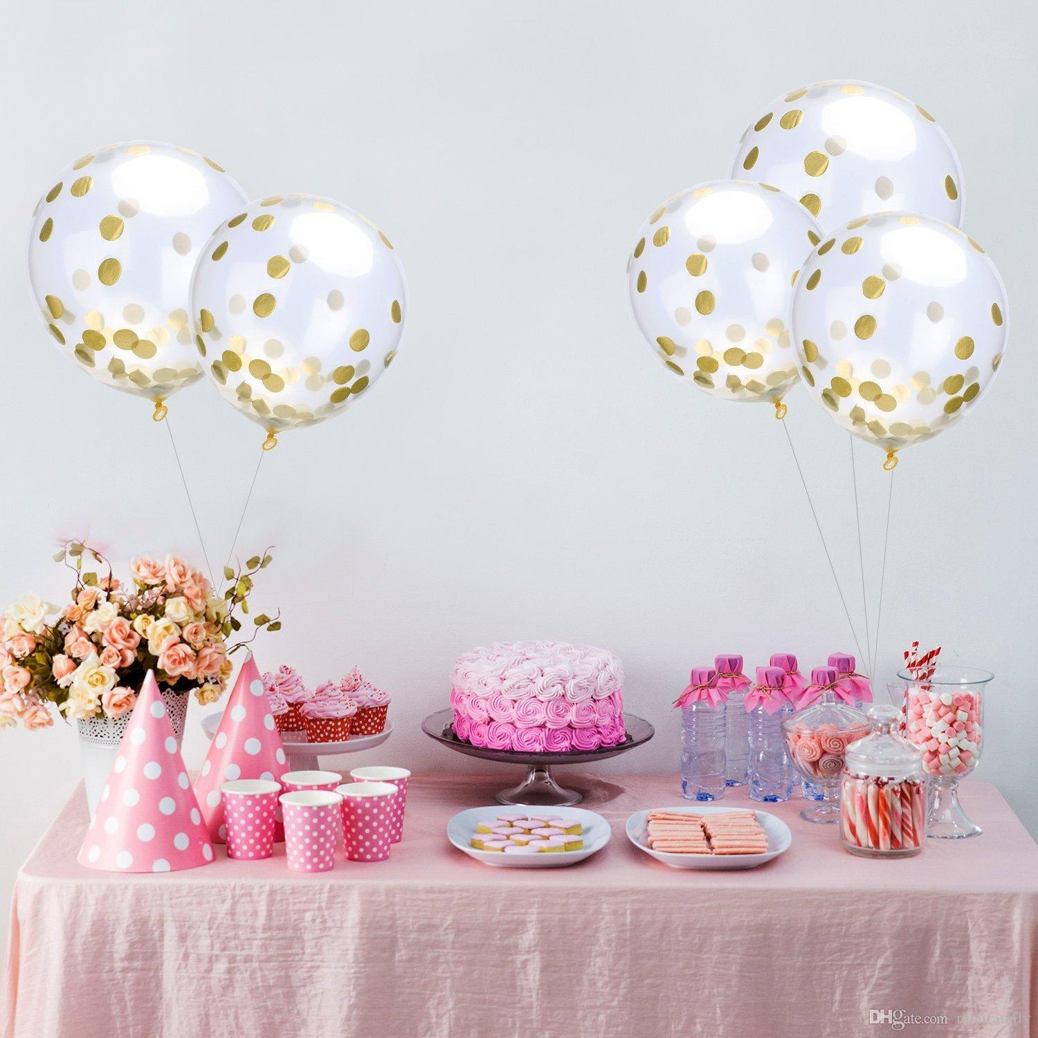 Latex Sequins Filled 12 Inch Transparent Balloons Novelty Kids Toys ...
