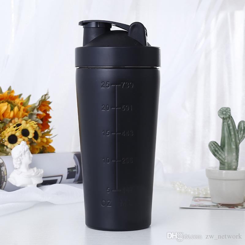 HOT Stainless Steel Protein Shaker cup Sports Fitness tumblers Multifunctional Stainless Steel Milkshake Cup mugs sports water bottle