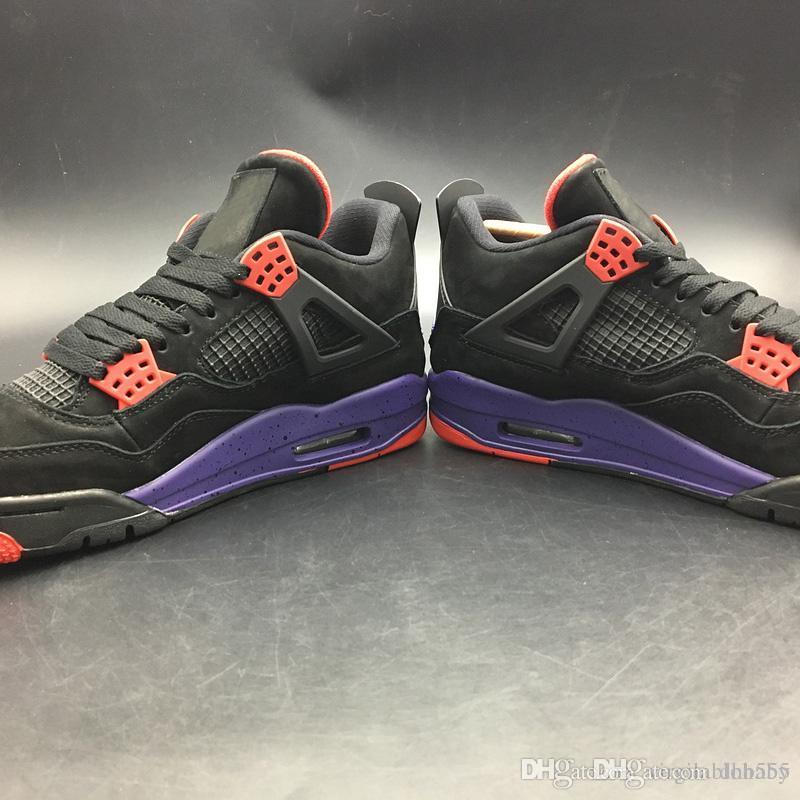 free shipping a43a2 65ffe Authentic 4 NRG Raptors 4S IV Basketball Shoes For Men Drake Black  University Red Court Purple Sneakers 2018 newest Release AQ3816-056