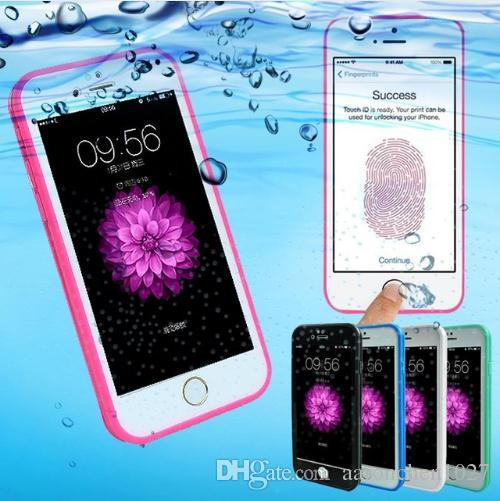 huge discount 7b965 50b6e Water Resistant Waterproof Shockproof phone cases for iPhone X 7 8 plus 6s  6plus 5s Soft Silicone Case 360 full body cover coque