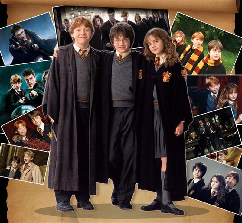 Harry Potter Magic Robe Boy Girls Gryffindor Cloaks Kids Children Teenage  Fancy Dress Anime Cosplay Clothes Adult Harry Potter Costume Girl Duo  Halloween