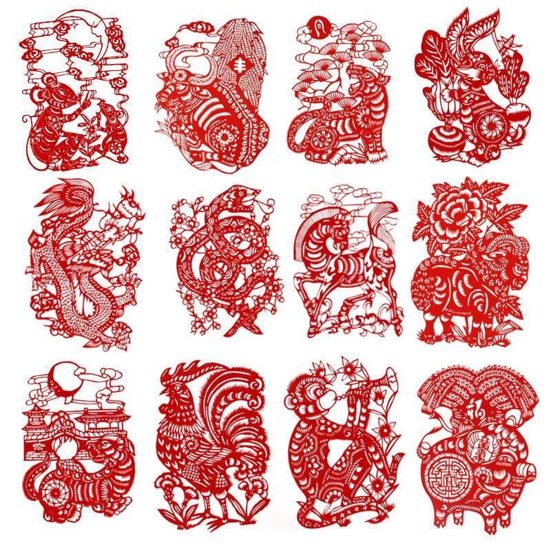 La vetrata realizzata a mano in carta presenta in Cina un piccolo dono di regali la decorazione del festival di primavera