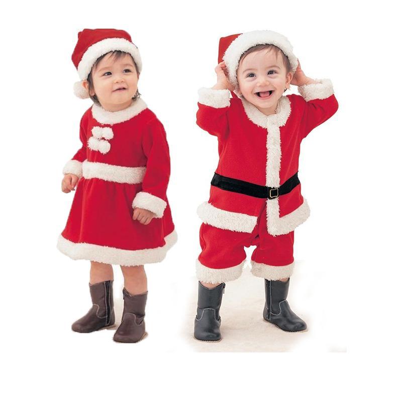 Acquista 2 Pezzi Costumi Di Capodanno Le Ragazze Dei Ragazzi Vestiti Bambini  Di Natale Set Oggetti Bambini Abiti Invernali Babbo Natale Maniche Lunghe +  ... 051aea690a8