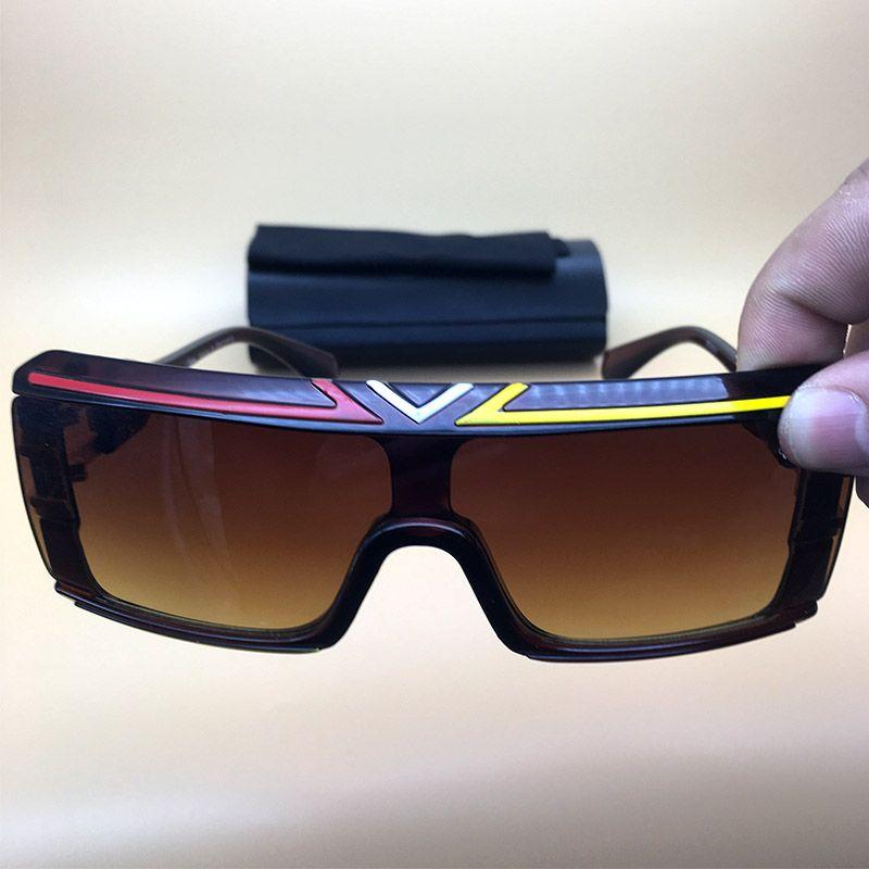 c0c55fce6d2 Mens Womens Oversized Eyeglasses Brown Sunglasses Oversized Eyewear  Rectangle Big Frame Legends 2018 Summer Cycling Glasses 4024 Mirror  Sunglasses Boots ...