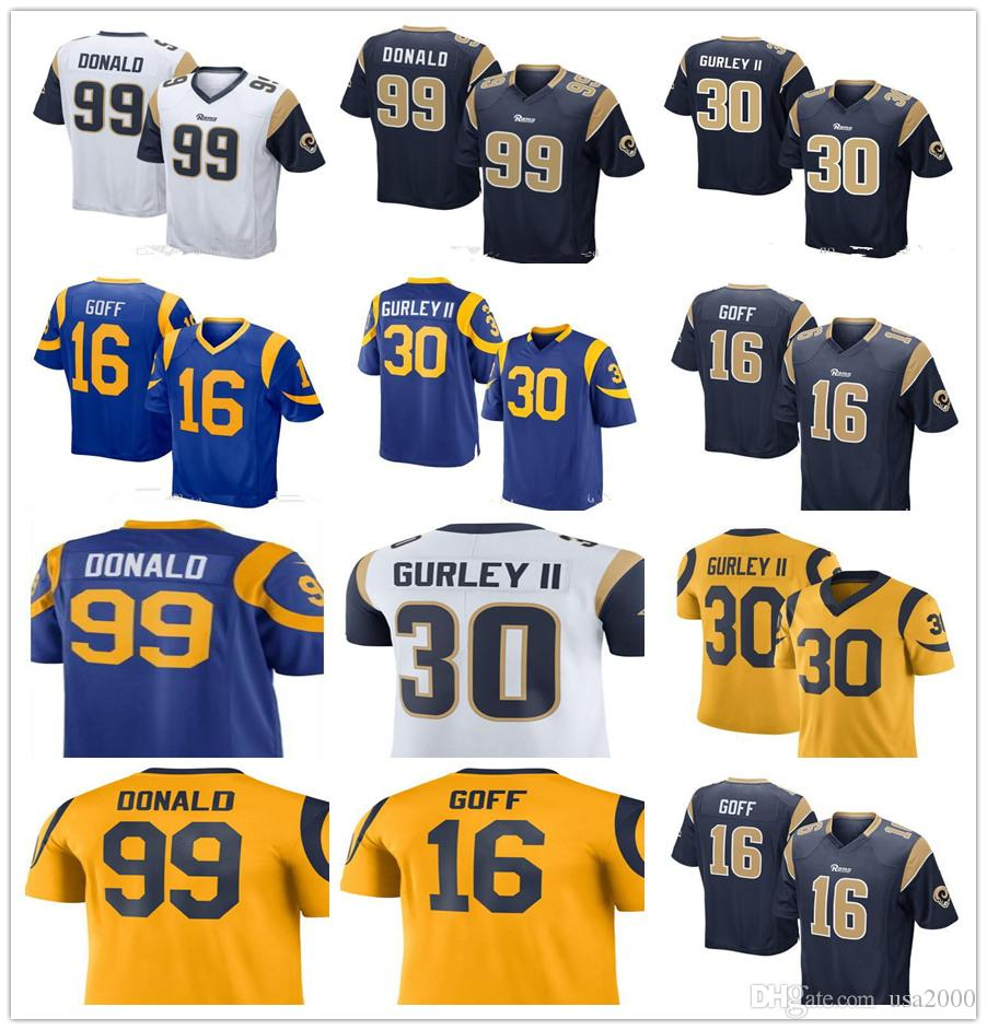 f45c7bc620e order 2018 2018 new los angeles rams 99 aaron donald 16 jared goff 30 todd  gurley