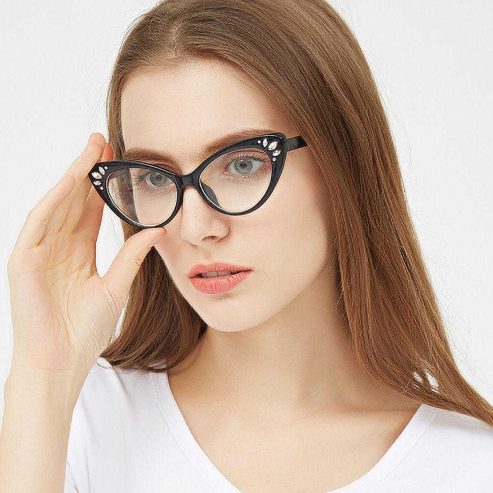 Großhandel 2018 Katzenauge Gläser Transparente Weibliche Klare Linse ...