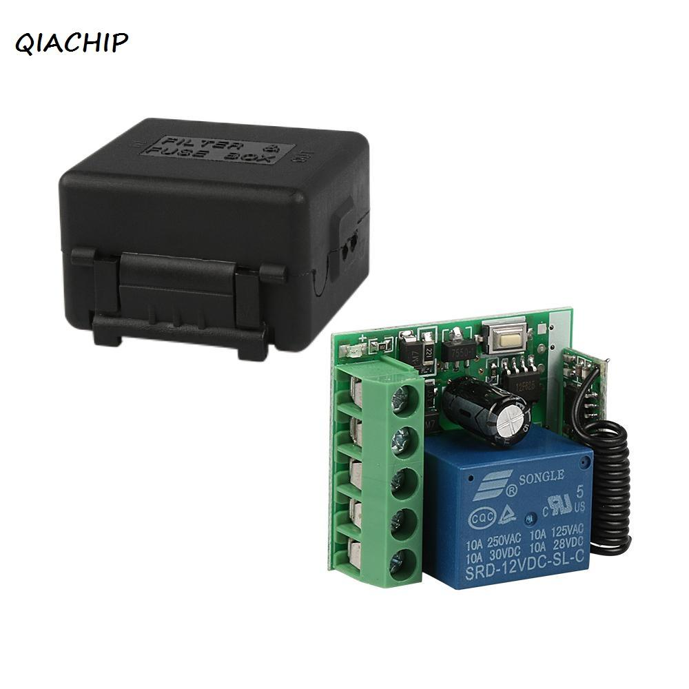 Qiachip 433 Mhz Wireless Remote Control Switch Learning Code 1527 Rf Circuit Board Garage Door 315 433mhz Dc12v 1ch Relay Receiver Module For Iksboks 360 Tv