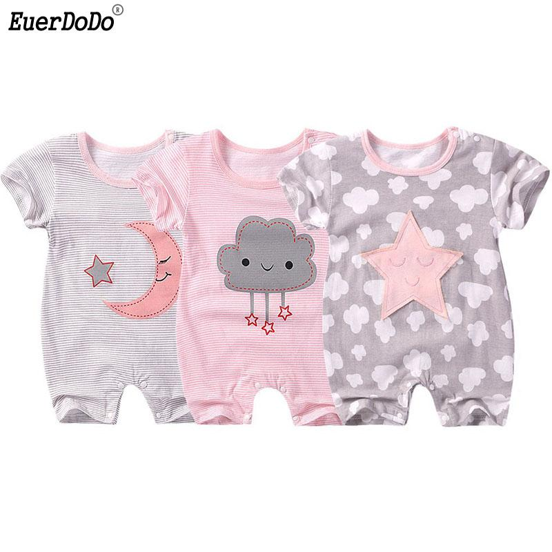 7d88a21329 New Born Baby Clothes Summer Coveralls For Baby Rompers Cotton Infant Boy  Girl Jumpsuit Newborn Romper