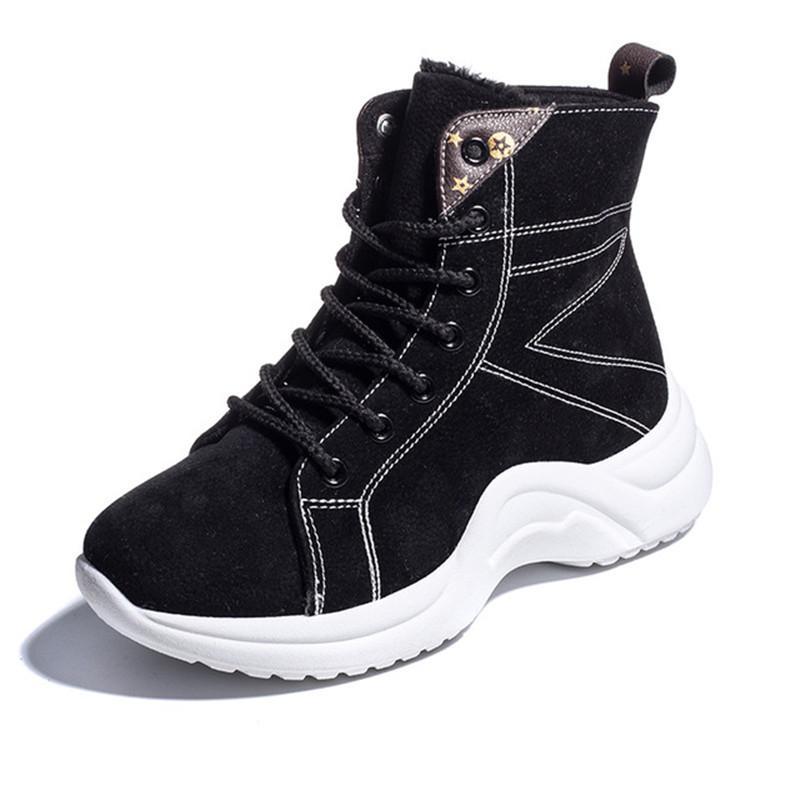 Acquista Inverno Donna Zeppa 2018 Con Moda Stivaletto Sneakers AA41vFT
