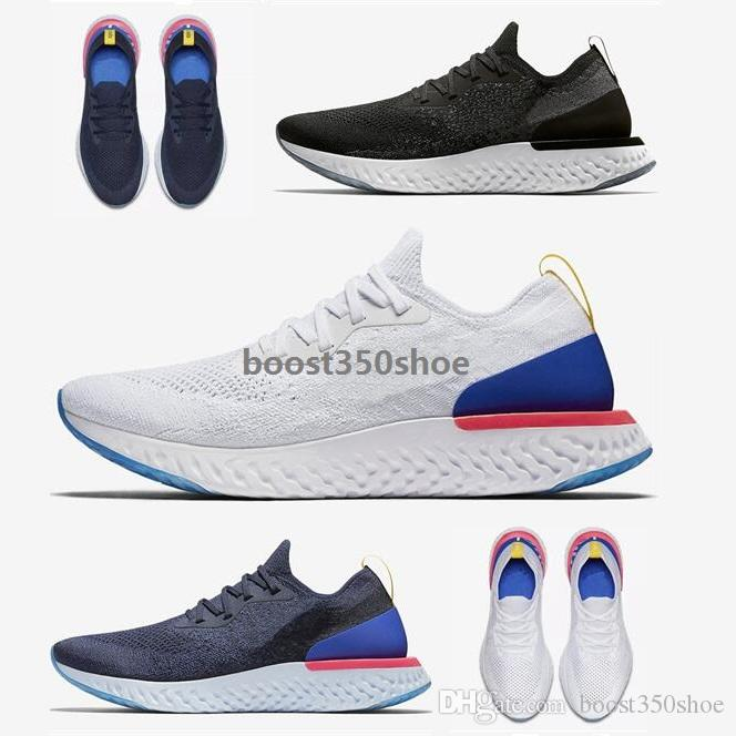 2018 New Boost Epic React fly Knitting Casual Running Shoes High Elastic Boost Men and Women Sports Trainer shoes free shipping 2014 unisex 2fqa84t