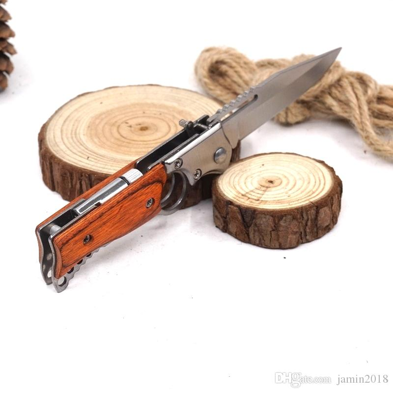 New Style AK47 Gun Knife Folding Pocket Tactical Knife Small Size Fast-open Camping Outdoor Multi Tool Survival Knives With LED Light
