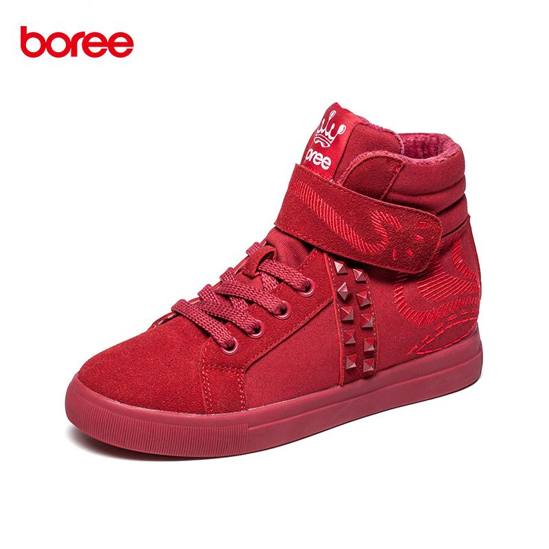 6993dea187894 Boree Winter Women  s Fashion Height Increasing Casual Shoes High ...