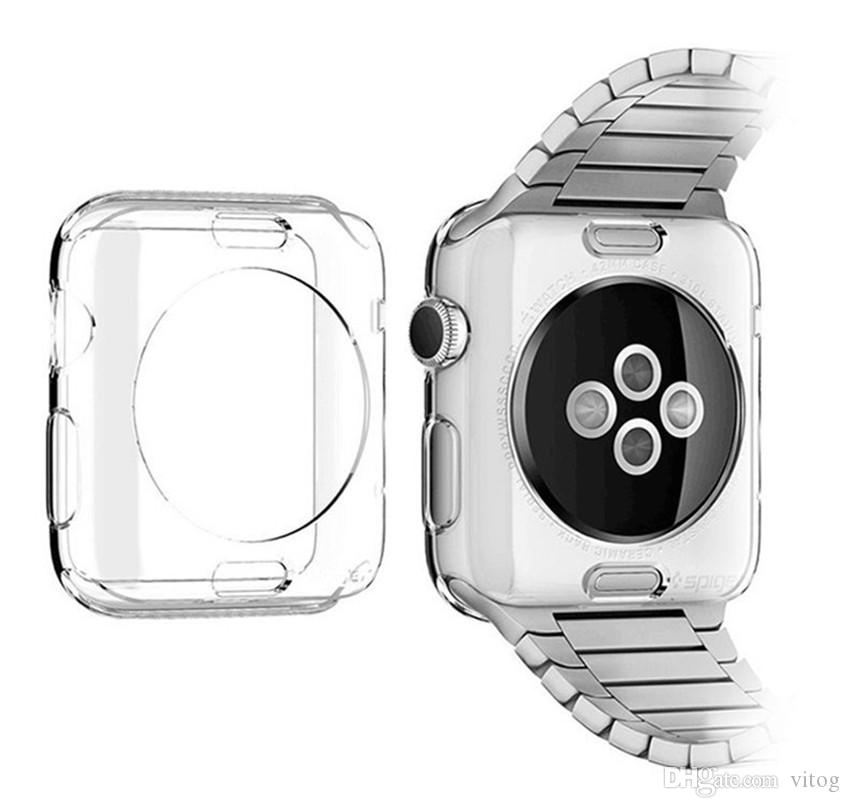 Case For apple watch 42mm 38mm Transparent TPU soft Protective cover for iWatch Series 2 3 Watch accessories