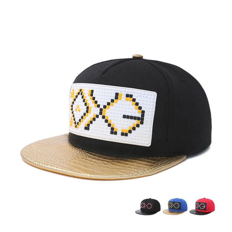 5a5450f2fe7 Men Women Couple Hip Hop Cap Spring Summer Autumn Embroidery Letter EXO  Bone Snapback Sun Hats High Quality Fashion Flat Caps Ny Caps Ball Cap From  ...