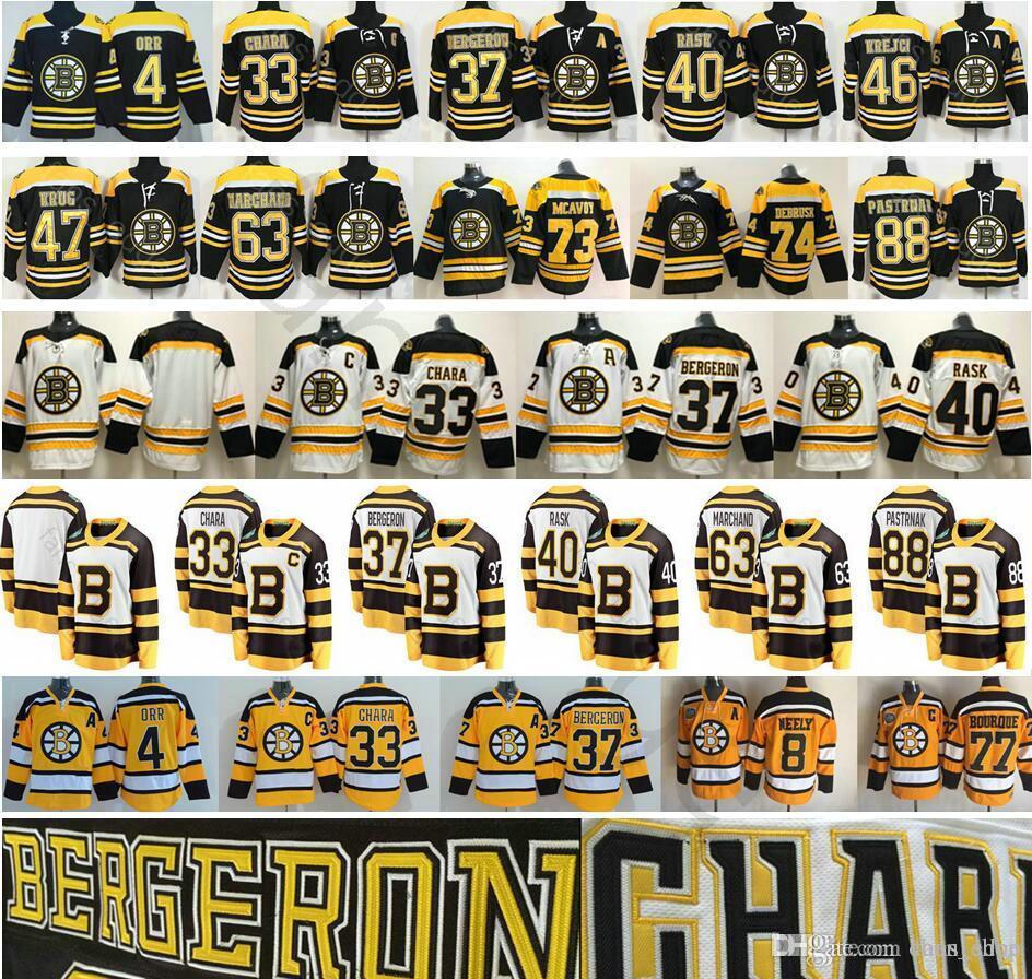 091c9baeed2 2019 Winter Classic Boston Bruins Hockey 4 Bobby Orr 33 Zdeno Chara ...