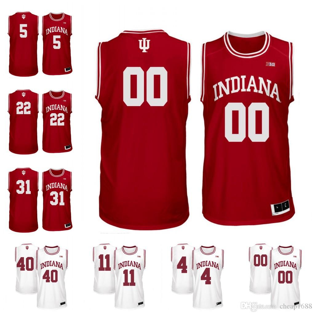 Custom Indiana Hoosiers 13 Juwan Morgan 4 Robert Johnson 20 De Ron Davis  Personalized Any Name Number College Basketball Jersey UK 2019 From  Cheap1688 70aa62e63
