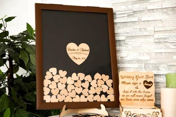 Personalized Brown Rustic Wooden Wedding Engraved Alternative