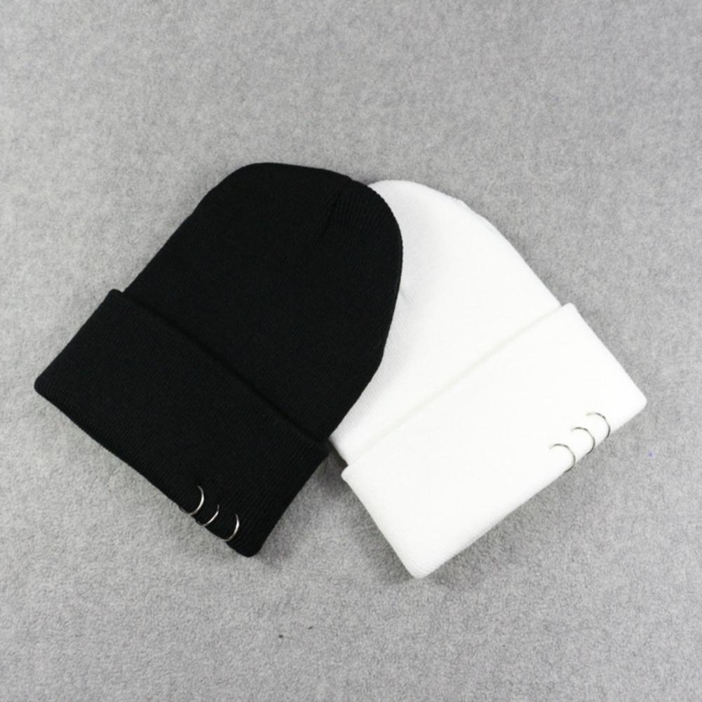 01a1148bb6c Mrwonder New Winter Men Women Beanies Knitted Cap With Metal Rings ...