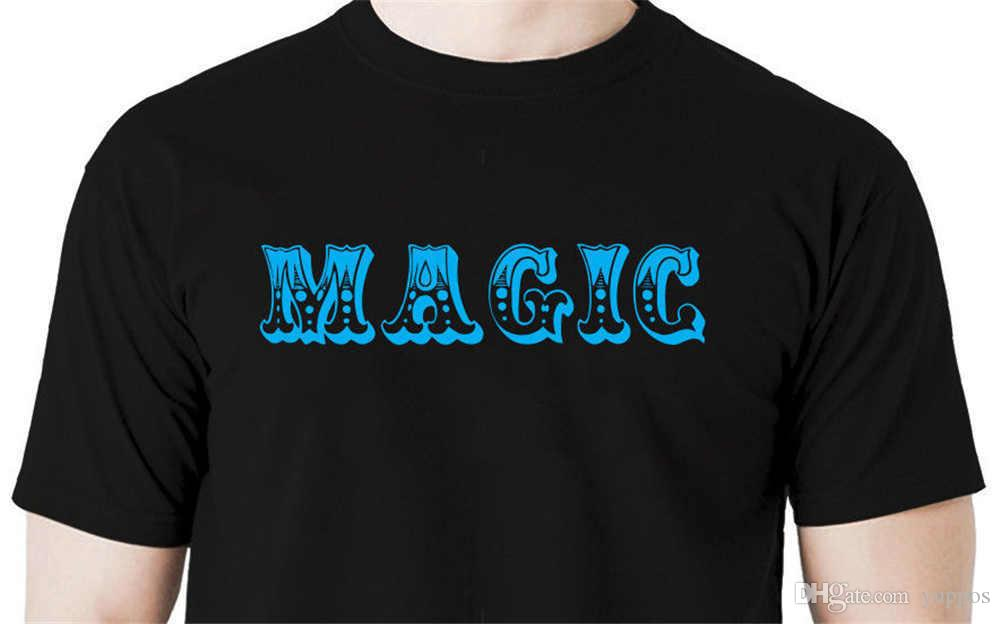 Men Fashion Magic t shirt magician tricks illusion stage birthday party balloons Cotton Tees Free Shipping