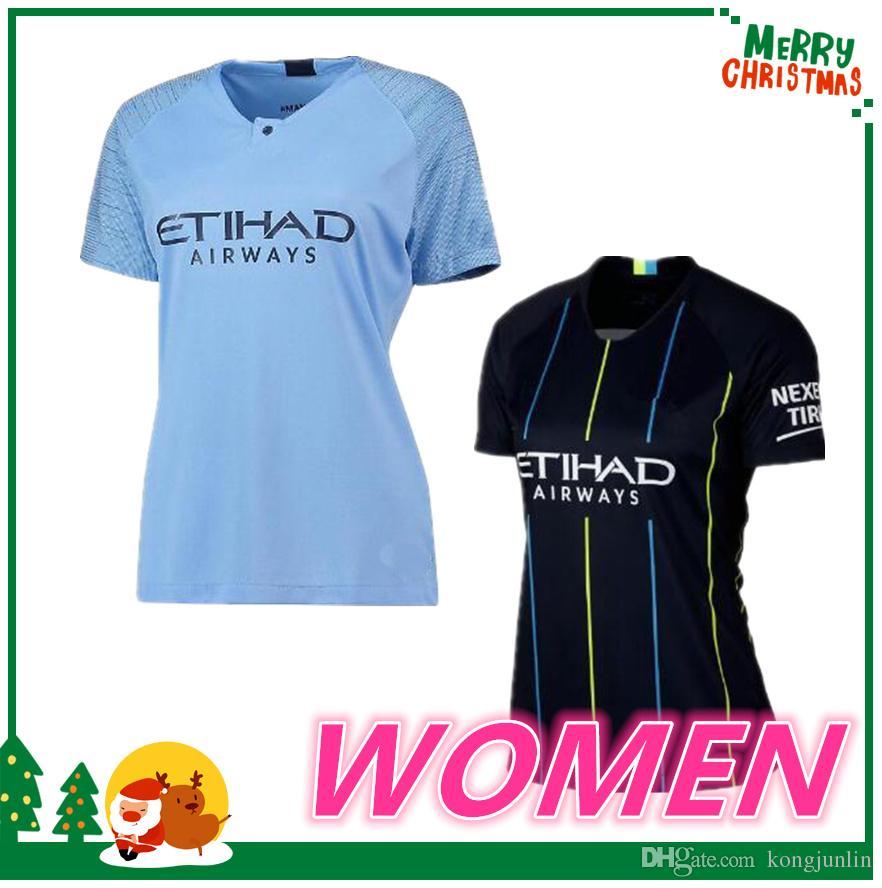 2019 Woman 18 19 Manchester KUN AGUERO Jersey 2018 2019 KOMPANY SILVA  STERLING DE BRUYNE G JESUS GUNDOGAN Soccer Jersey Football Shirt From  Kongjunlin c89046508