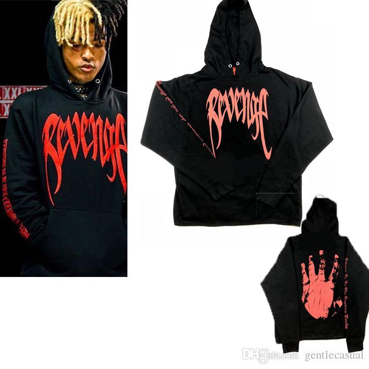 diseño innovador 96d1d 4b781 Diseñador REVENGE Hoodies Mens Pullover Hoodie Moda Hoodies Hombres Casual  Hip Hop Venganza Rapper XXXTentacion Sudadera