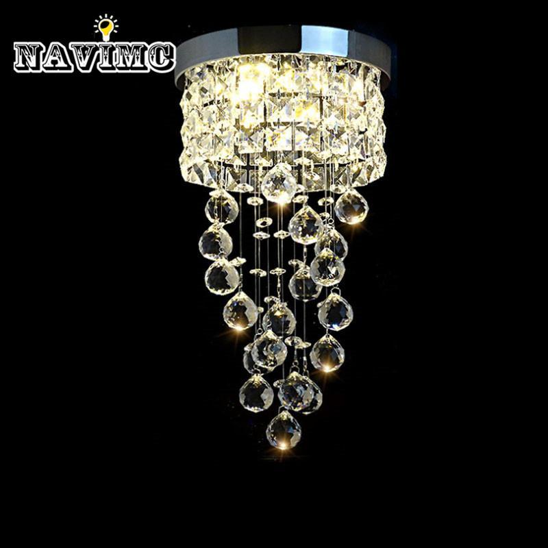 Acheter Moderne Led Petit Cristal Lustre Éclairage Plafond Pour ...